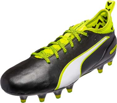 Puma Kids evoTOUCH 1 FG - Black & Safety Yellow