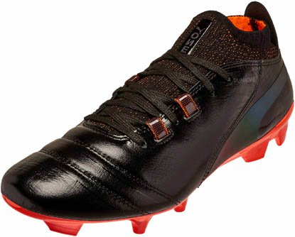 aeee5d4101 PUMA One Lux FG – Black/Shocking Orange