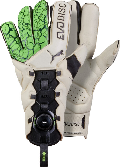 Puma evoDisc Goalkeeper Gloves – Green Gecko/Puma White