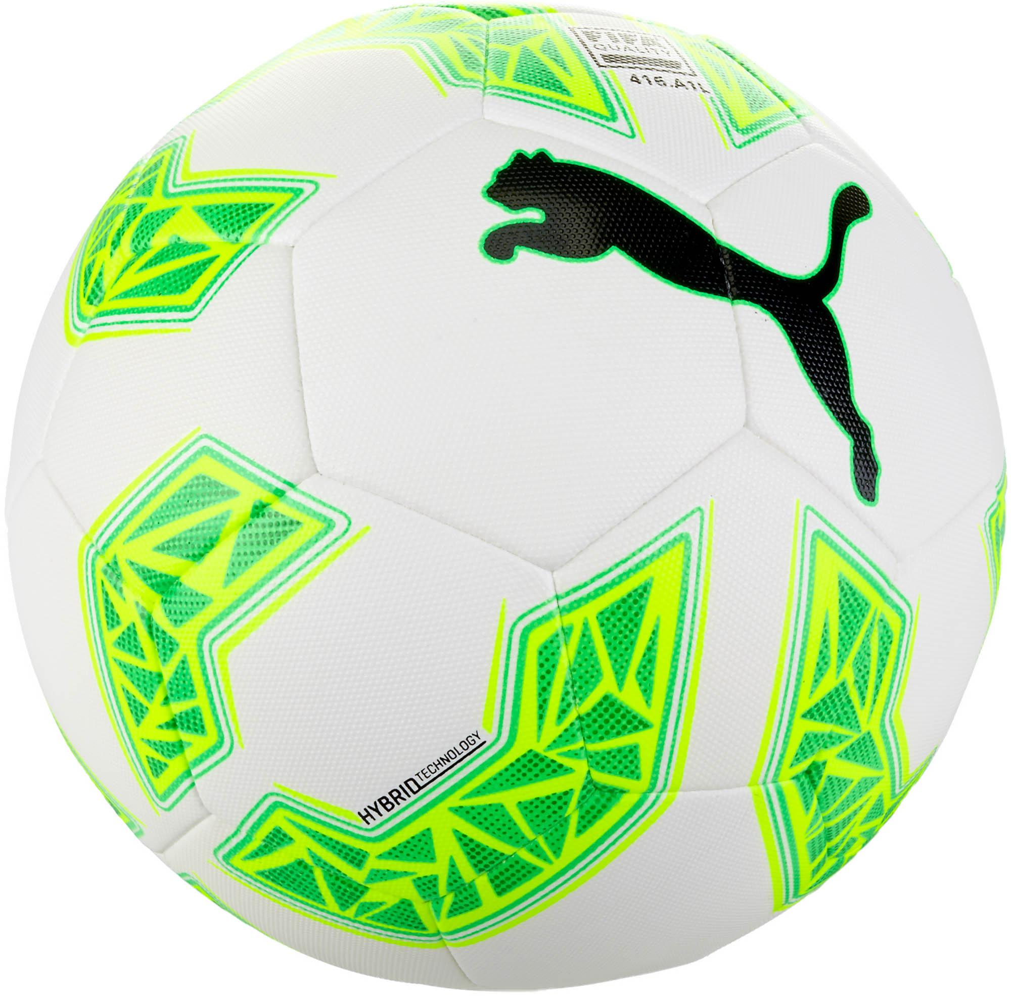 1550d4831b23 PUMA evoSPEED 2.5 Hybrid Soccer Ball – White Green Gecko