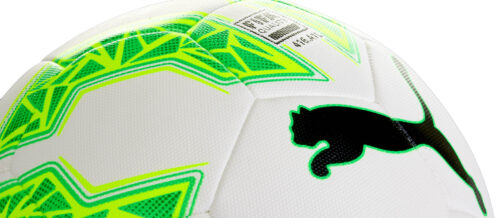 PUMA evoSPEED 2.5 Hybrid Soccer Ball – White/Green Gecko