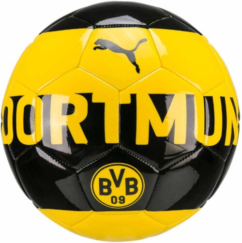 PUMA Borussia Dortmund Soccer Ball – Cyber Yellow/Black