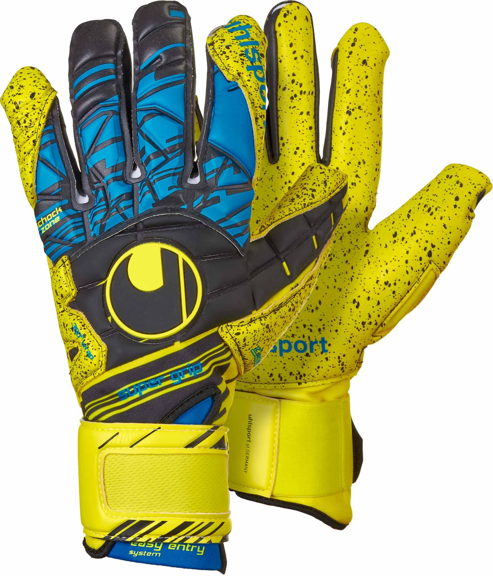 Uhlsport Eliminator Supergrip HN Goalkeeper Gloves - Fluo Yellow   Black 2cbb6d4c9