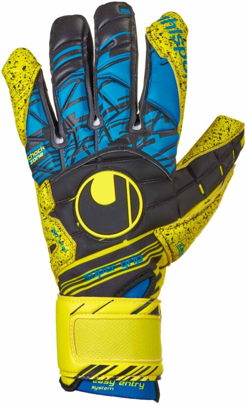 Uhlsport Eliminator Supergrip HN Goalkeeper Gloves – Fluo Yellow/Black