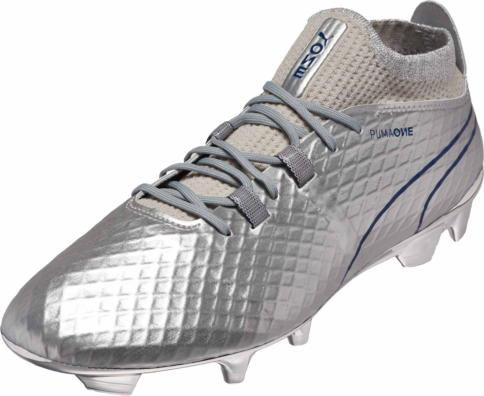PUMA One Chrome FG – Silver Blue Depths