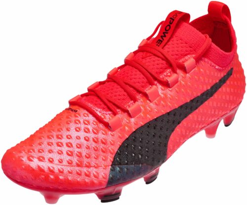 PUMA evoPOWER Vigor 3D 1 FG – Fiery Coral/Toreador