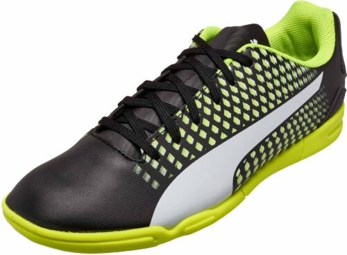 PUMA Kids Adreno III IT – Black/Safety Yellow