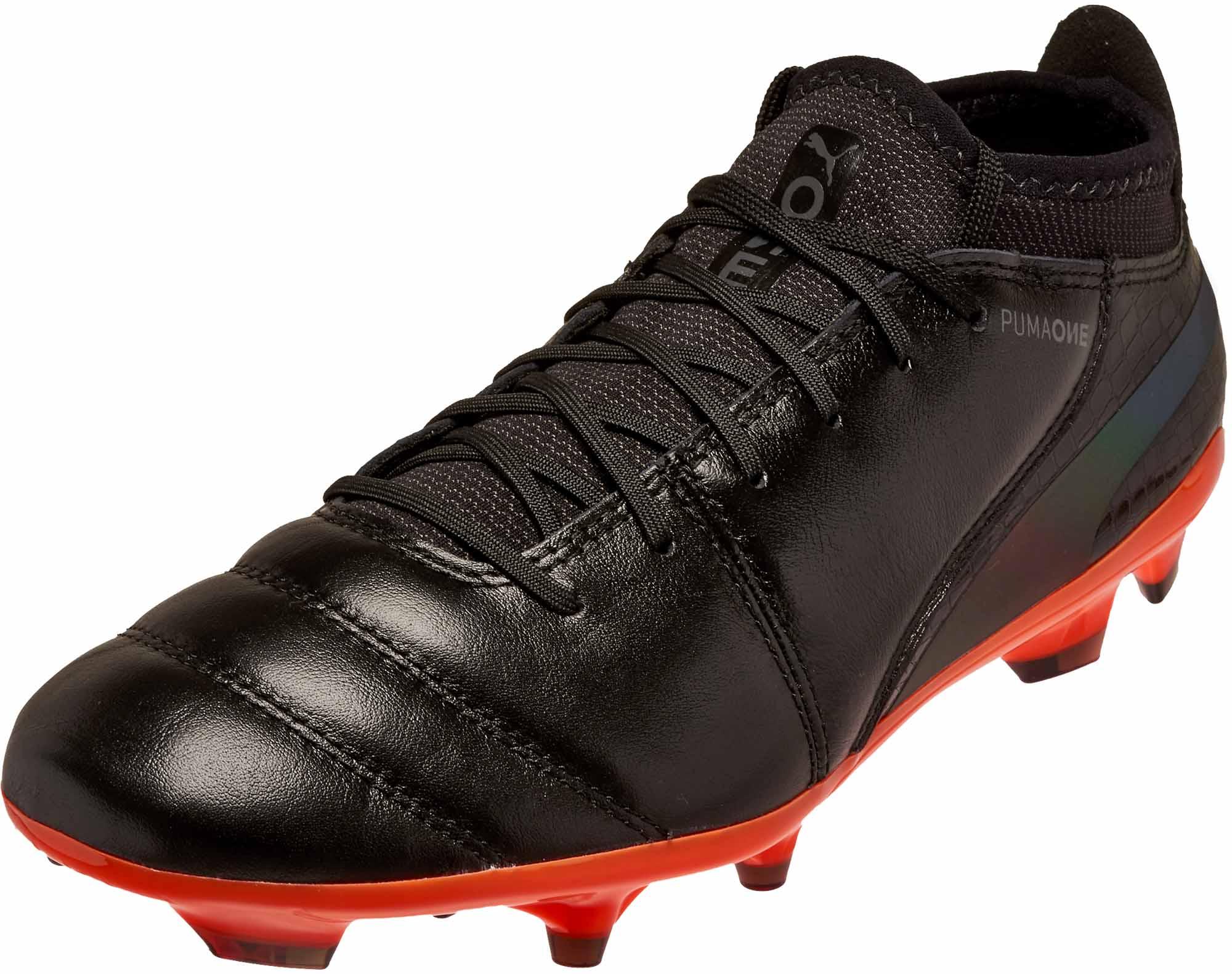 868c60567 Puma One Lux 2 FG - Black Puma Soccer Shoes
