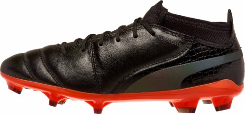 PUMA One Lux 2 FG – Black/Shocking Orange
