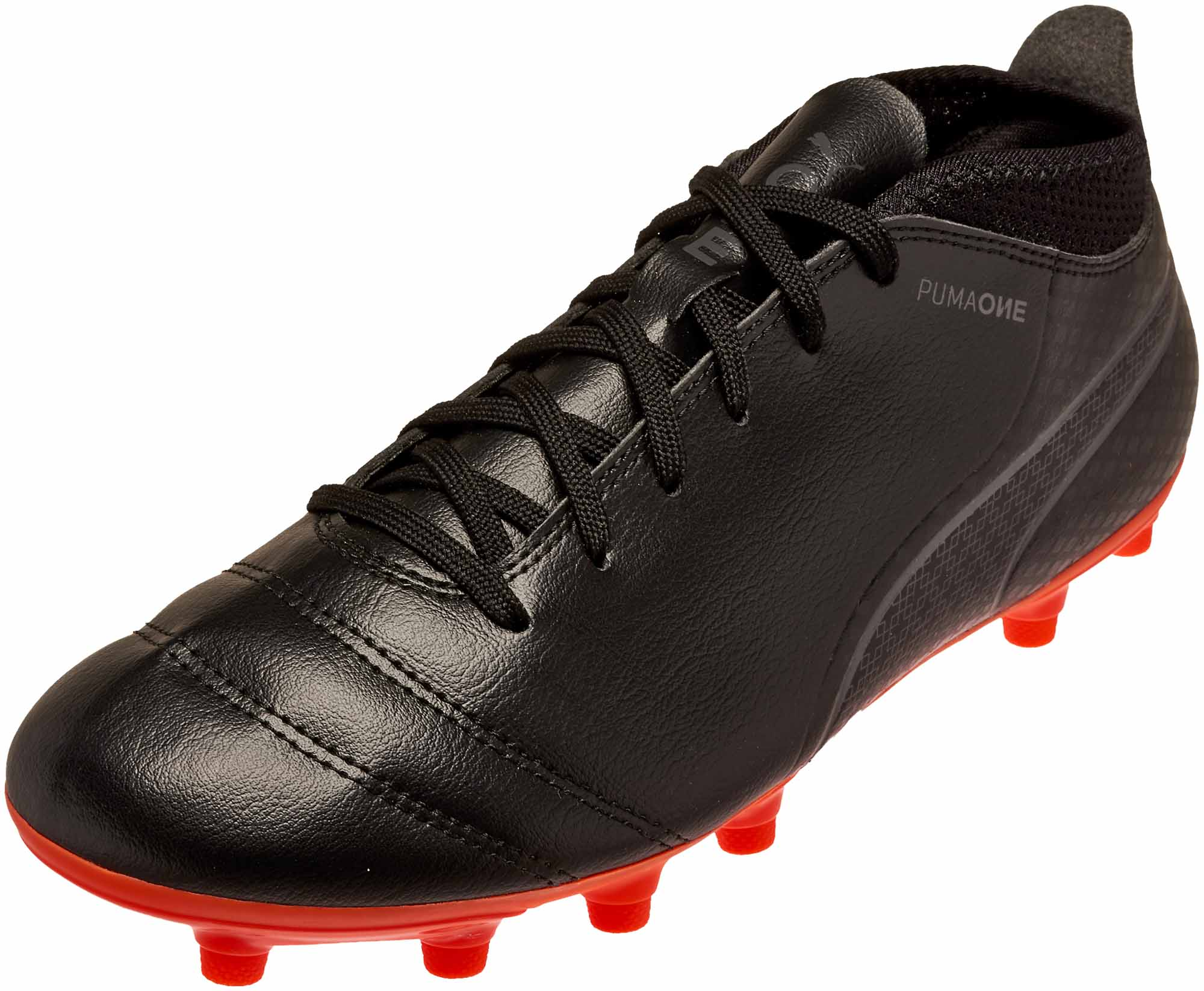 c1a4686052 PUMA One 17.4 FG – Black/Shocking Orange
