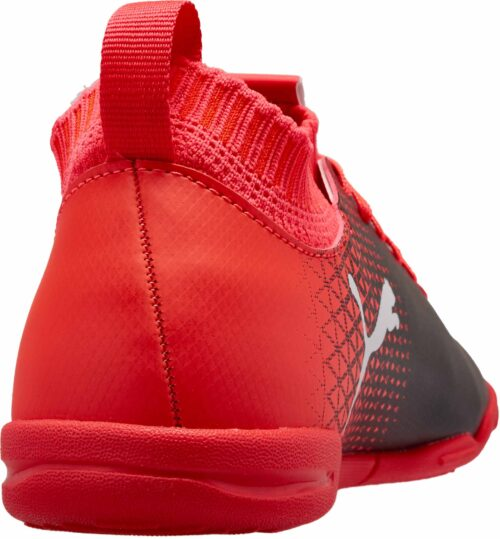 PUMA Kids evoKnit FTB IT – Black/Fiery Coral