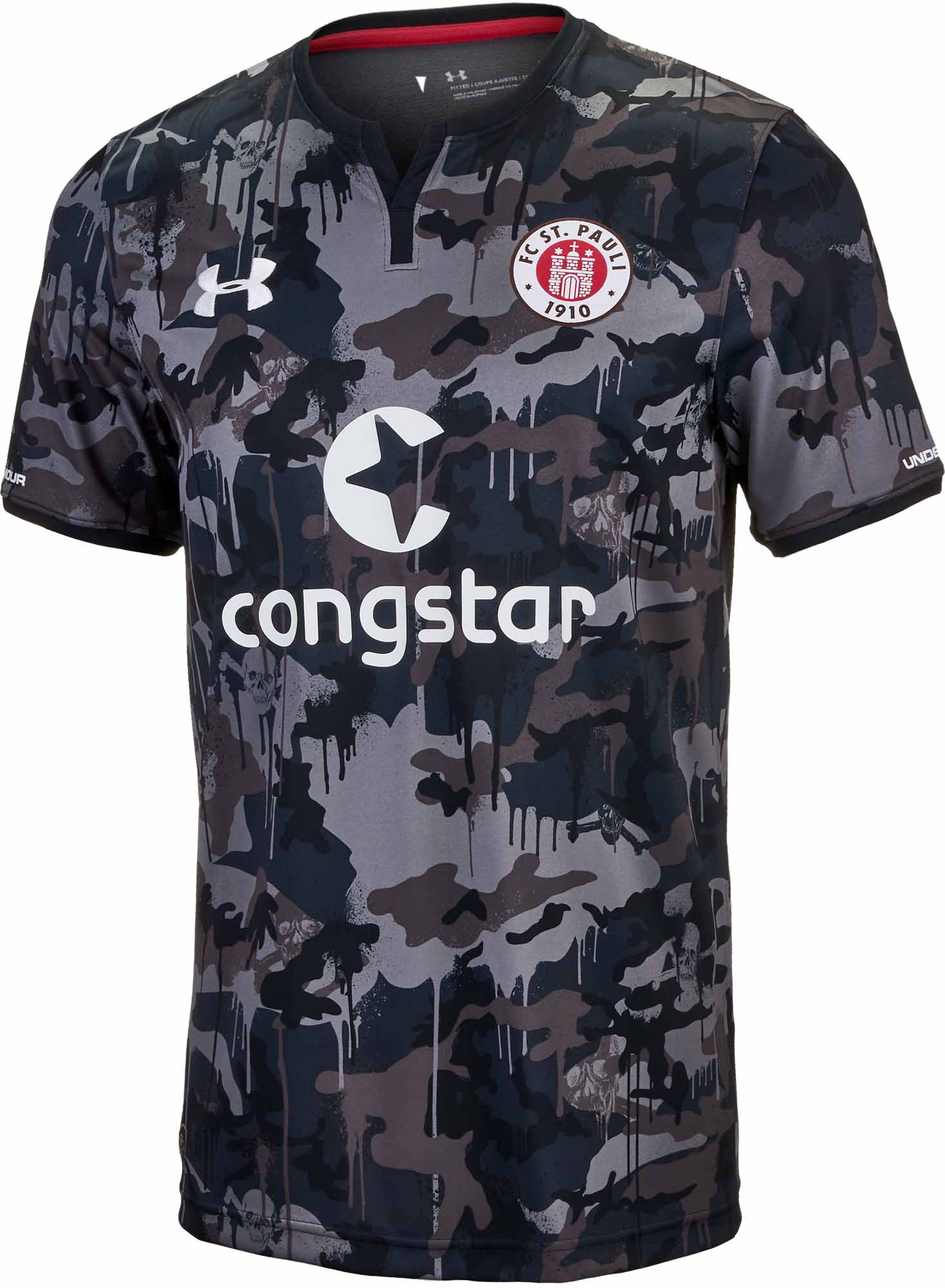 new style 64b5a 6f38e Under Armour FC St. Pauli Third Jersey 2017-18