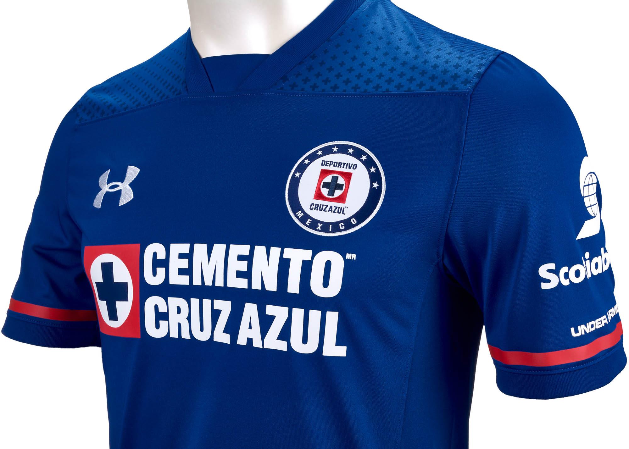6849a6f3dd4 Under Armour Cruz Azul Home Jersey 2017-18 - SoccerPro.com