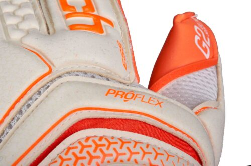 Reusch Serathor Pro G2 Evolution Cut Goalkeeper Gloves – White/Shocking Orange