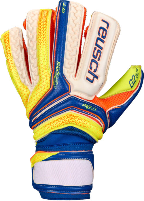 Reusch Serathor Deluxe G2 Goalkeeper Gloves – Dazzling Blue/Safety Yellow