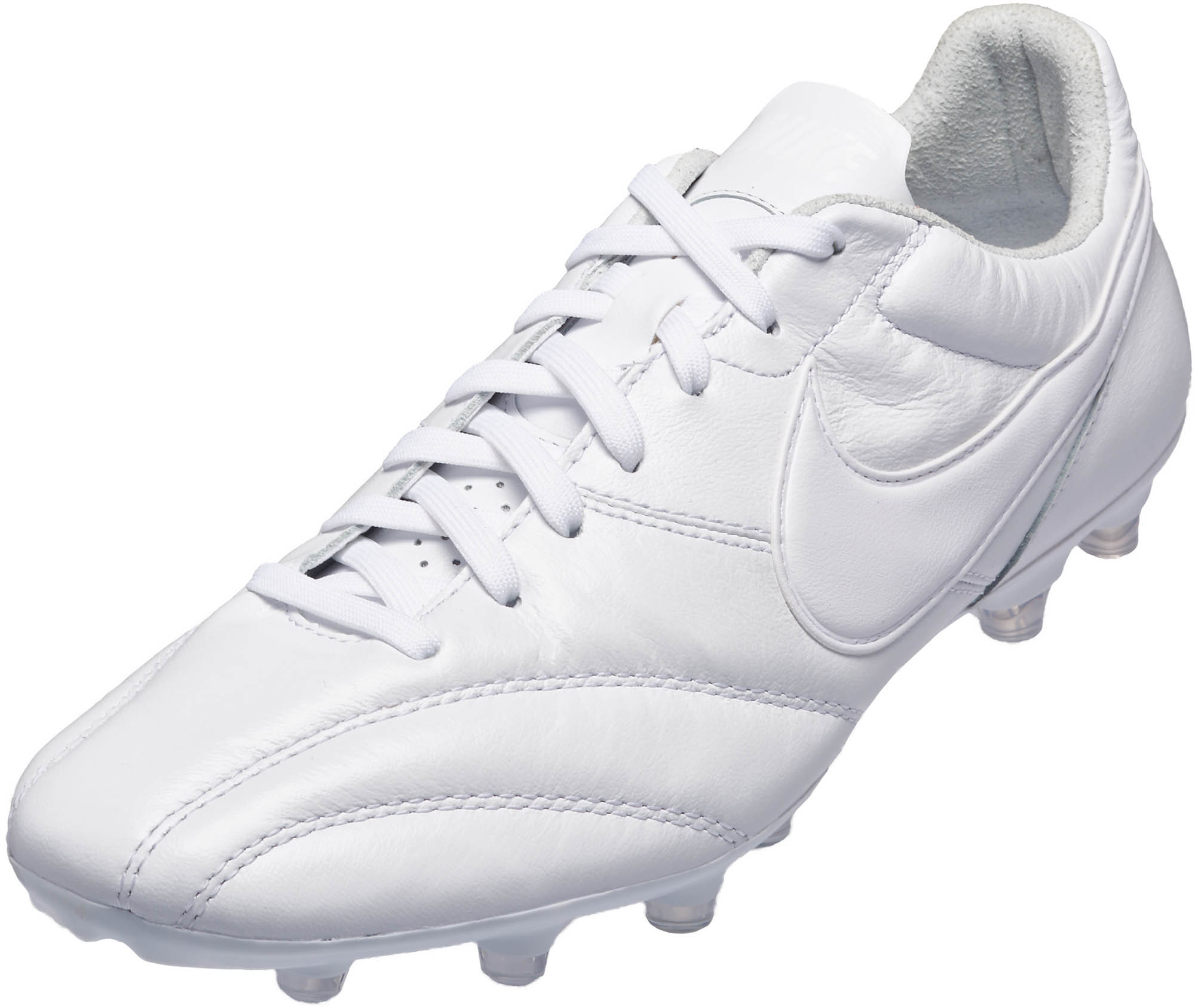 cubo Desviarse Reembolso  The Nike Premier FG - Triple White Nike Soccer Cleats