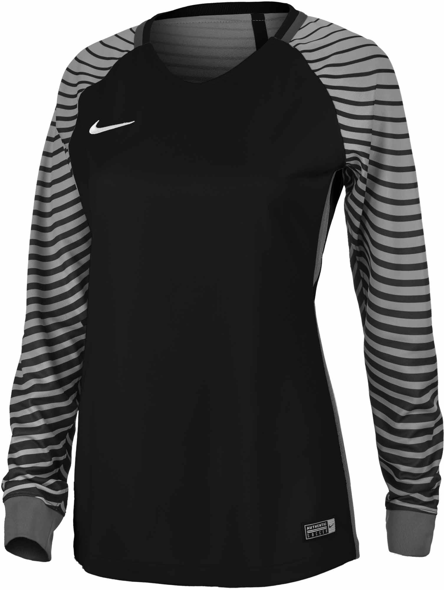 e2dc3aefa6f Nike Womens Gardien Goalkeeper Jersey - Black & Cool Grey