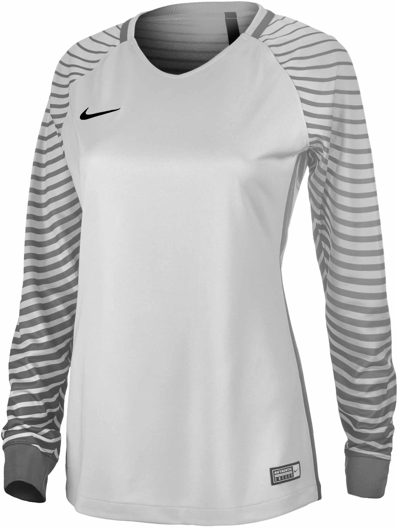 3df32a639 Nike Womens Gardien Goalkeeper Jersey - Pure Platinum   Cool Grey