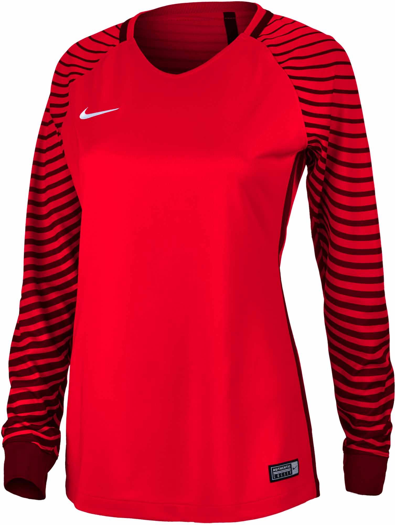 new product 0bbf9 1b3cc Nike Womens Gardien Goalkeeper Jersey – Bright Crimson Deep Garnet