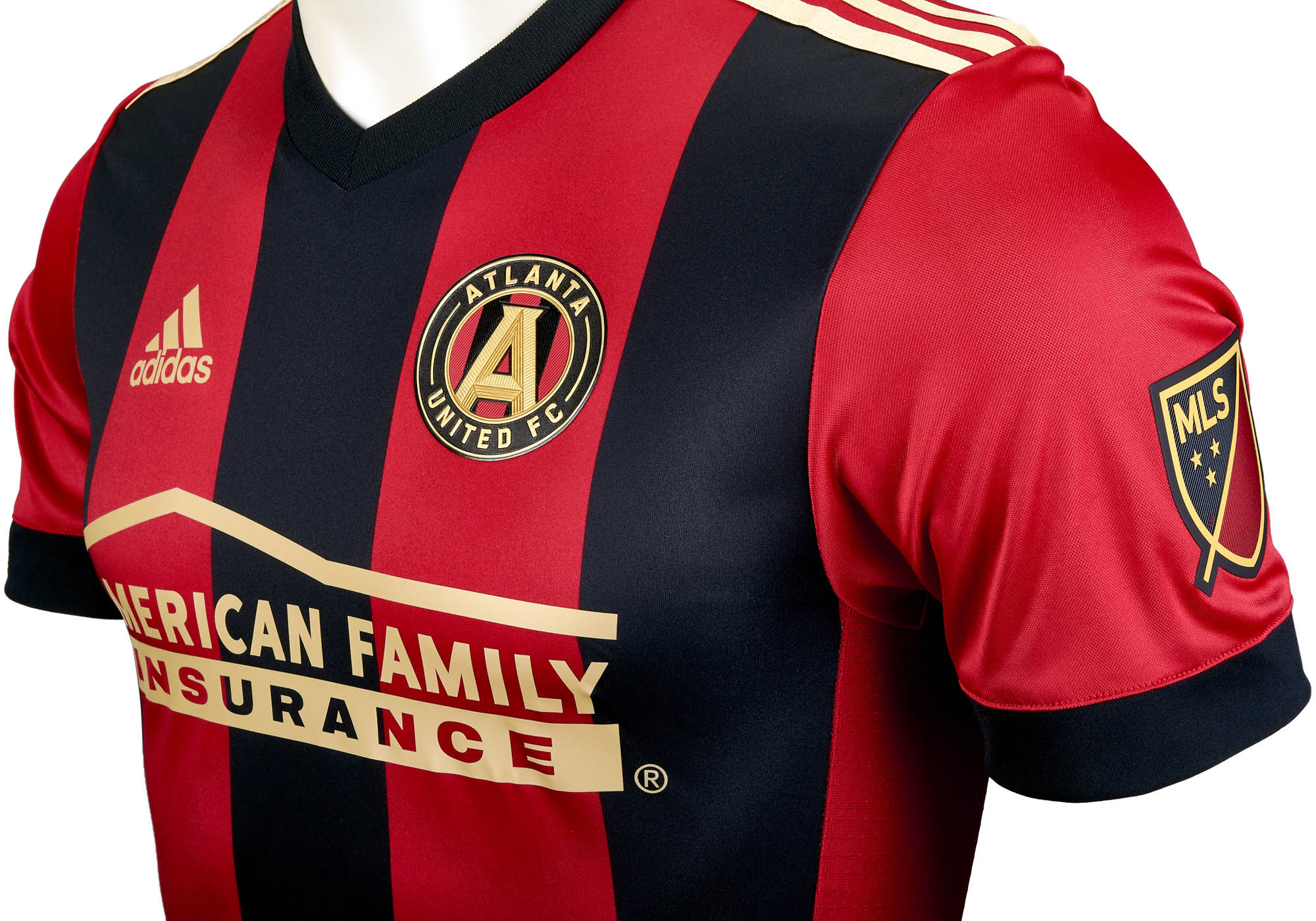 info for 754fd b45b5 2017/18 adidas Atlanta United Authentic Home Jersey
