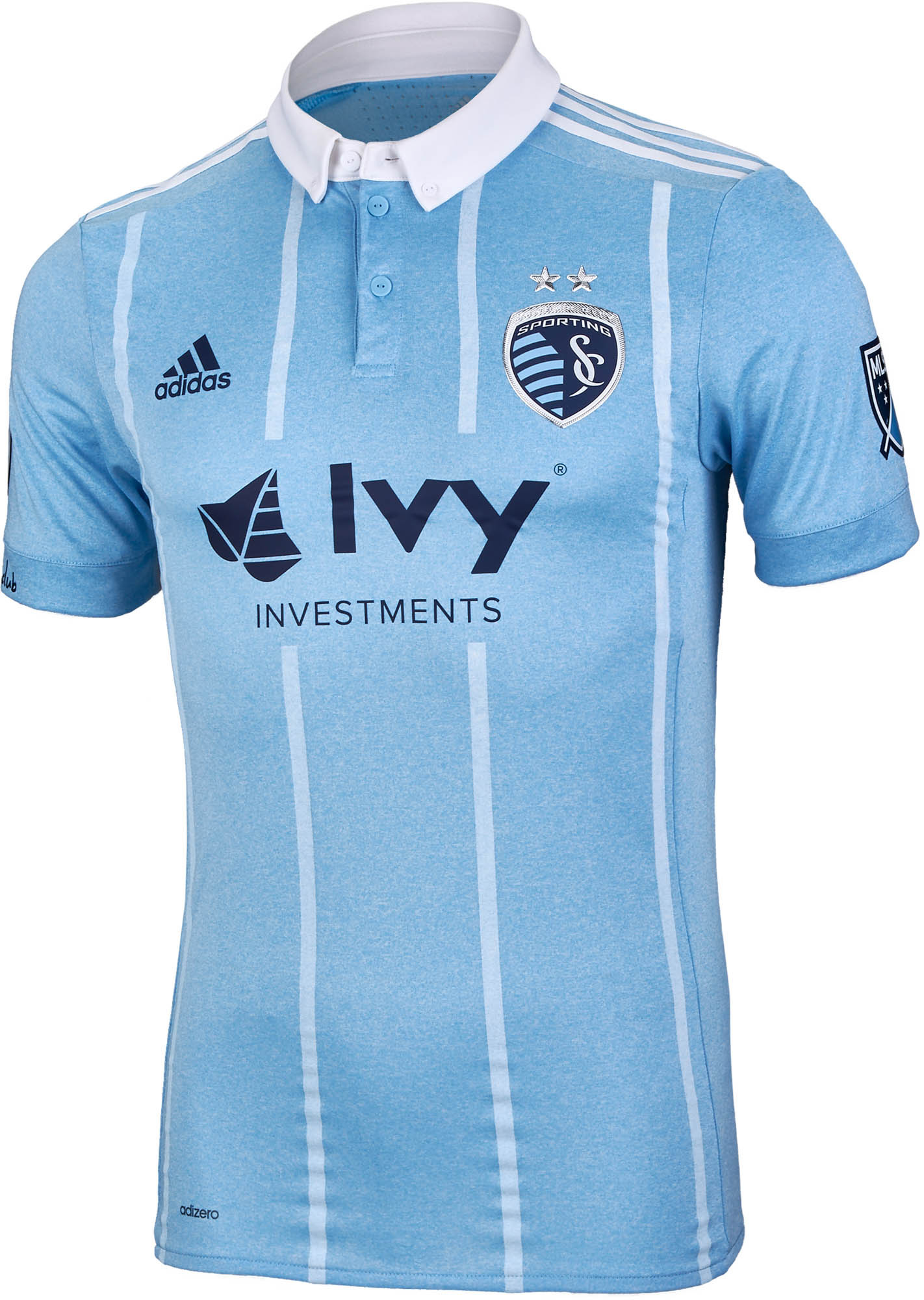 80a726ca4 adidas Sporting KC Authentic Home Jersey 2017-18