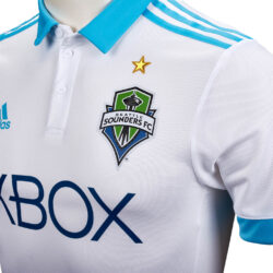watch b80f3 6a949 2017/18 adidas Seattle Sounders Authentic Away Jersey