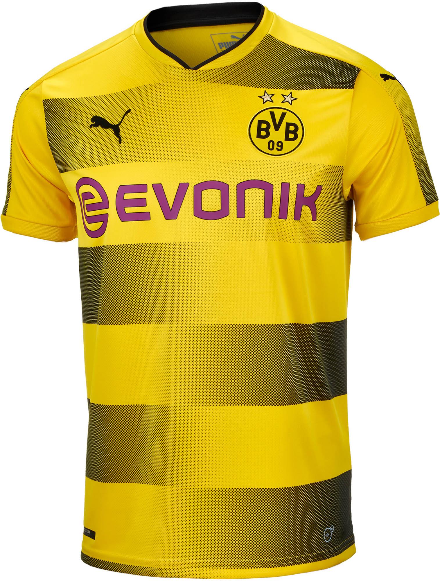 1c60325e8 2017 18 Puma Borussia Dortmund Home Jersey - SoccerPro.com