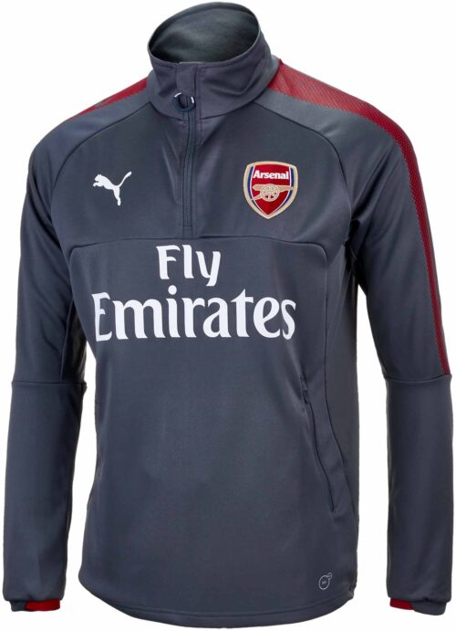 Puma Arsenal 1/4 Zip Training Top – Dark Shadow