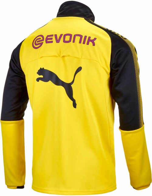 Puma Borussia Dortmund 1/4 Zip Training Top – Cyber Yellow/Black