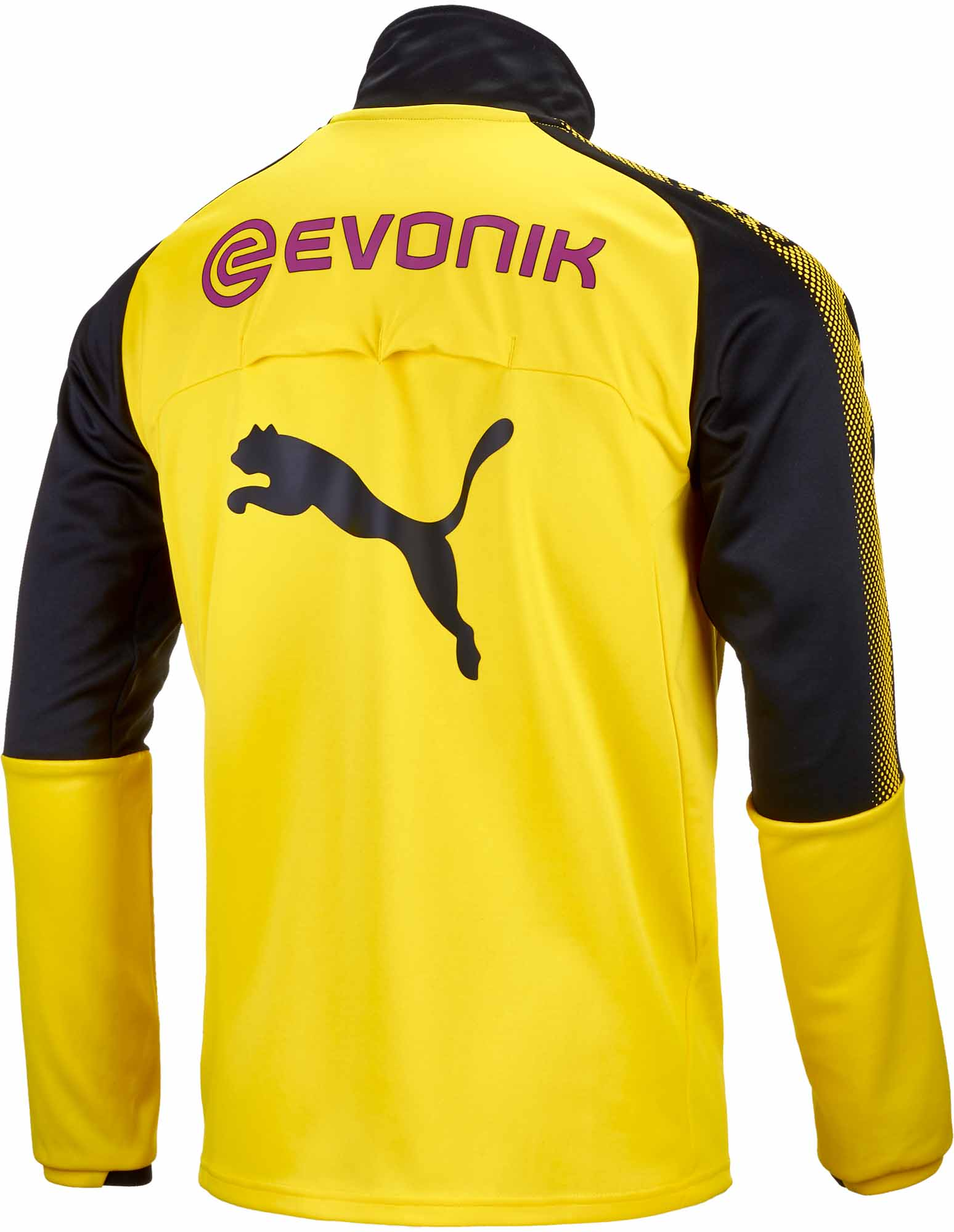 196355f19 Puma Borussia Dortmund 1 4 Zip Training Top – Cyber Yellow Black