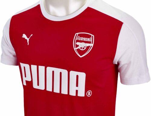 Puma Arsenal Puma Tee – High Risk Red/White