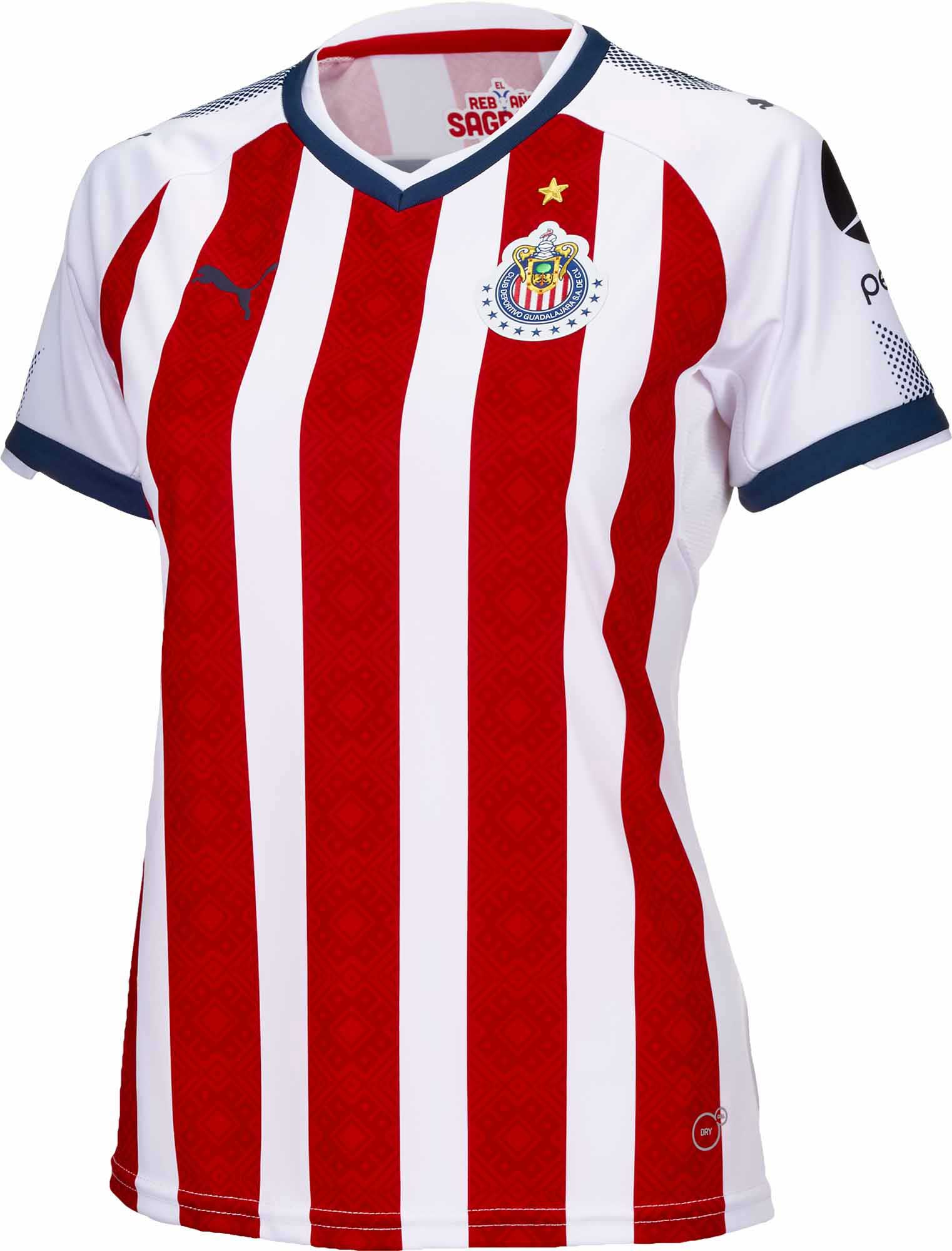 best website ffa7f 972ec Puma Womens Chivas Home Jersey 2017-18