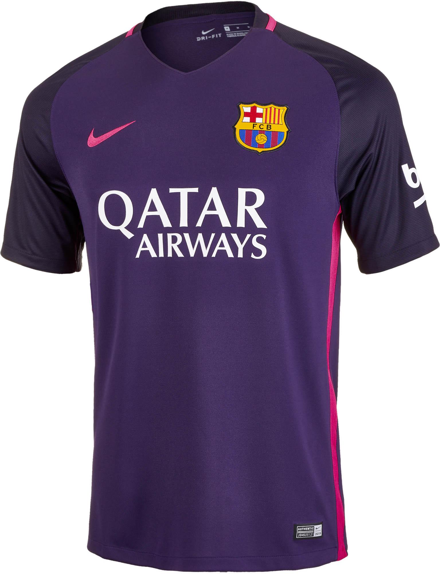 meet 6609b 5d3aa Nike Barcelona Away Jersey 2016-17