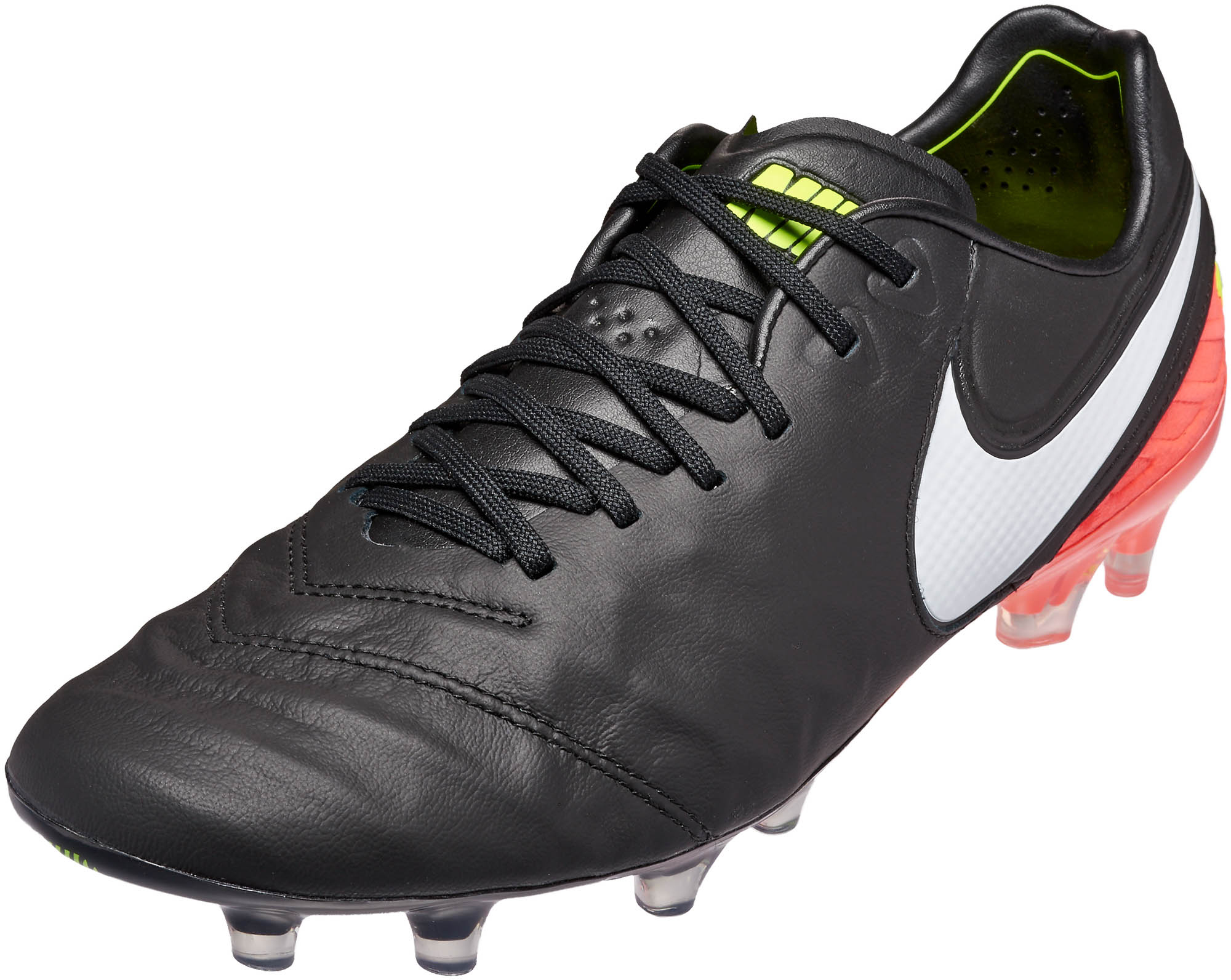 Nike Tiempo Legend VI FG - Black and Hyper Orange Nike ...