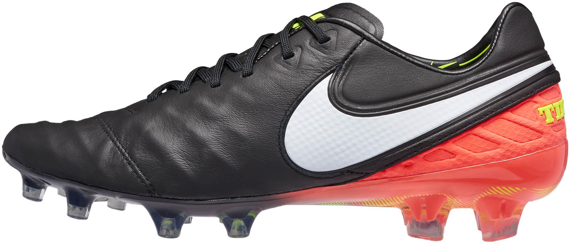 d4fa75ee3 Nike Tiempo Legend VI FG - Black and Hyper Orange Nike Tiempo Soccer ...