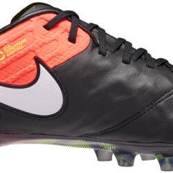 a67233092 Nike Tiempo Legend VI FG - Black and Hyper Orange Nike Tiempo Soccer Shoes