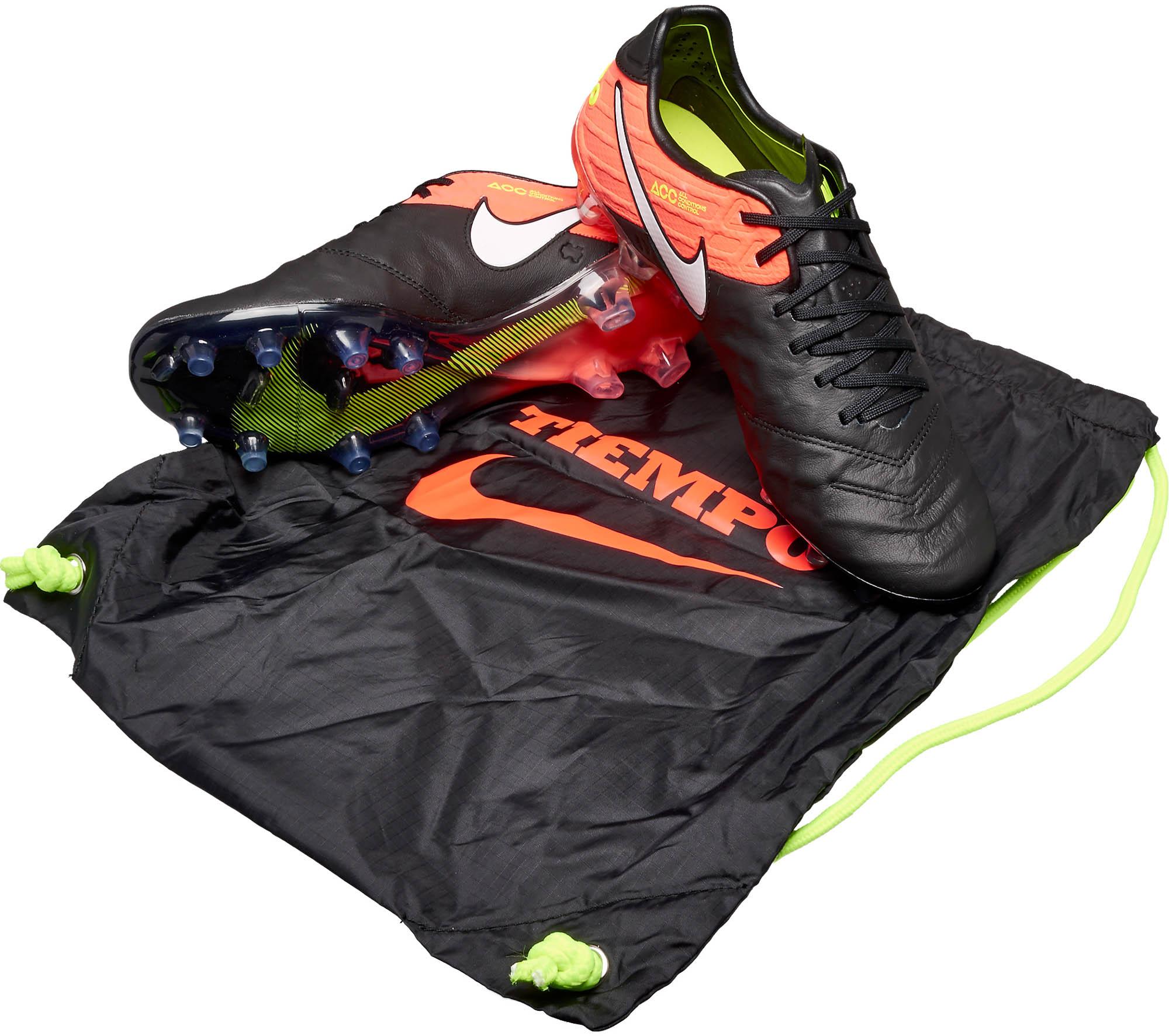 officiell butik ny hög kvalitet spetsar in Nike Tiempo Legend VI FG - Black and Hyper Orange Nike Tiempo ...
