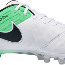 Nike Tiempo Legend VI FG - White and Electric Green Tiempo Legends ce6ed0199