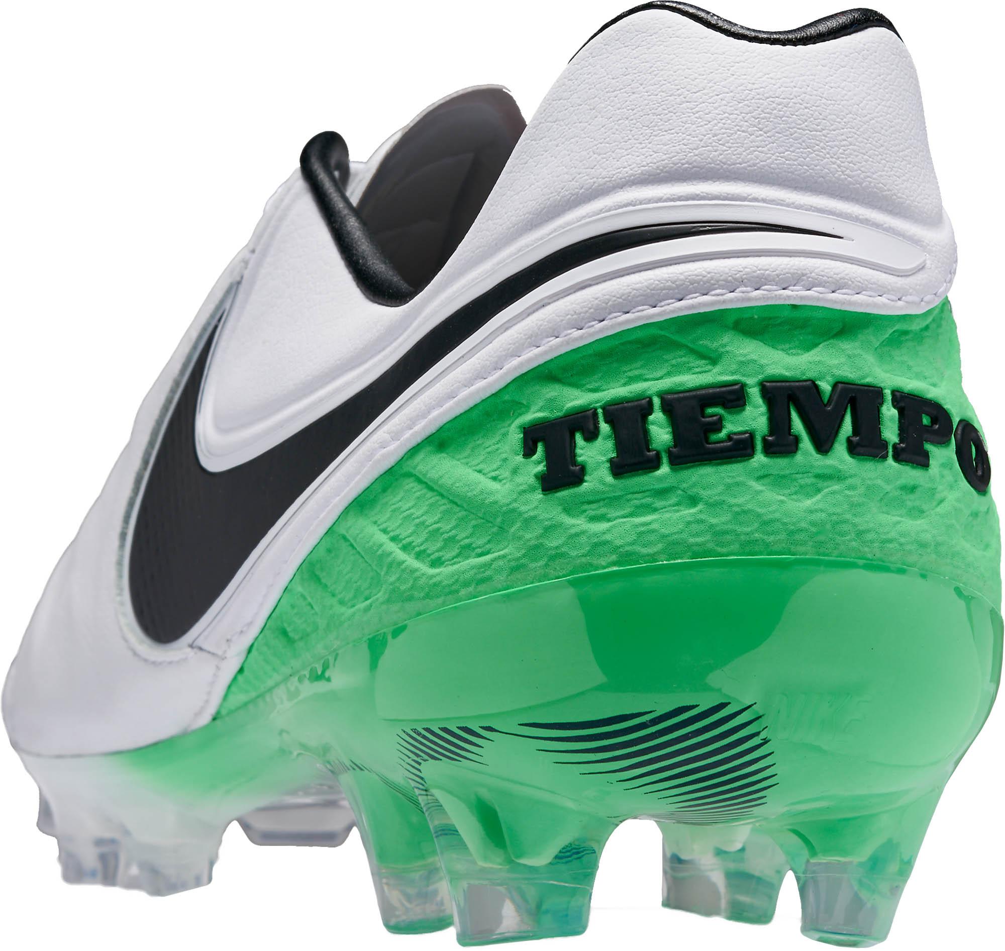 abeef1da11e8 Nike Tiempo Legend VI FG - White and Electric Green Tiempo Legends