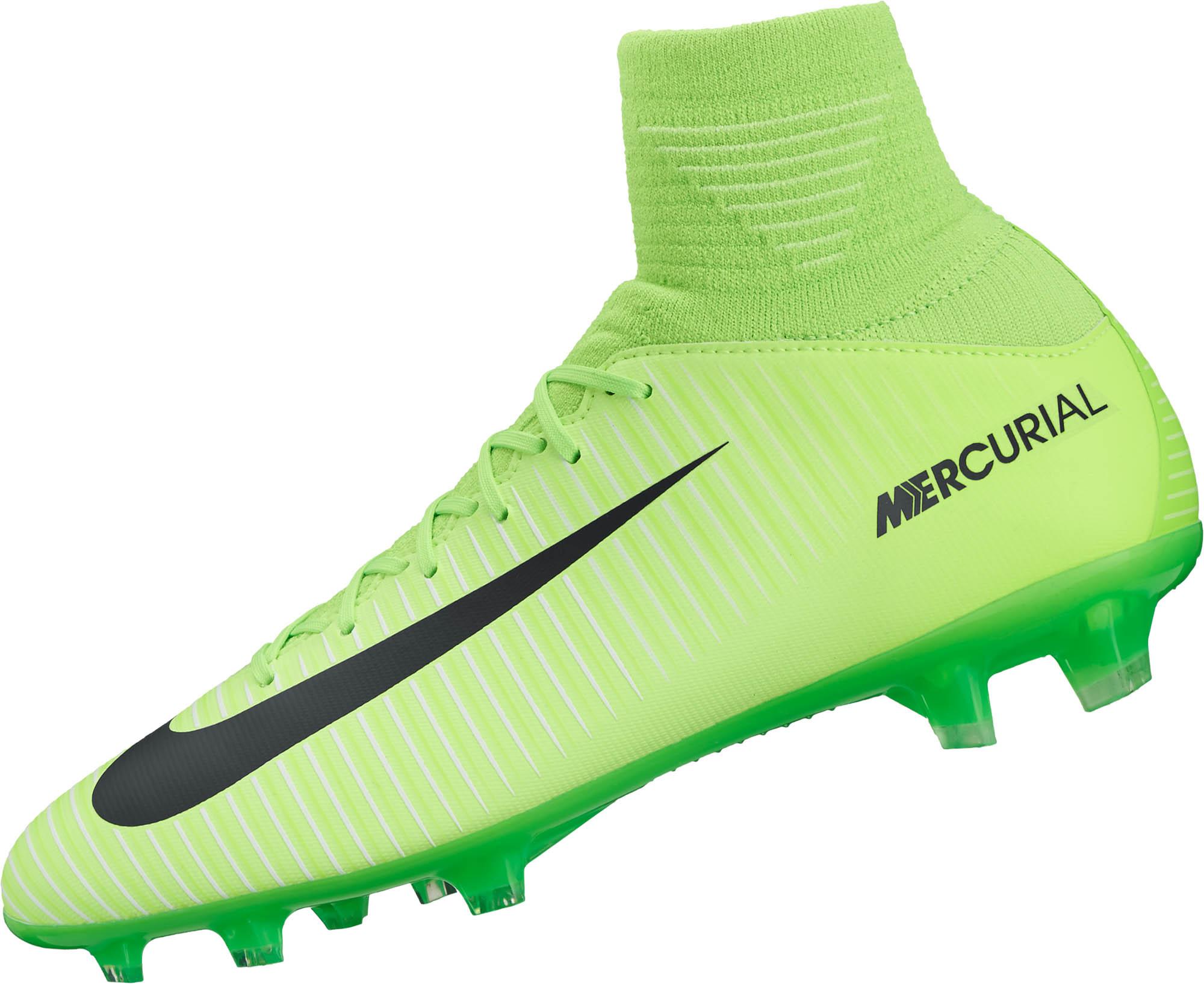 b7997b9cc Nike Kids Mercurial Superfly V FG – Electric Green Flash Lime