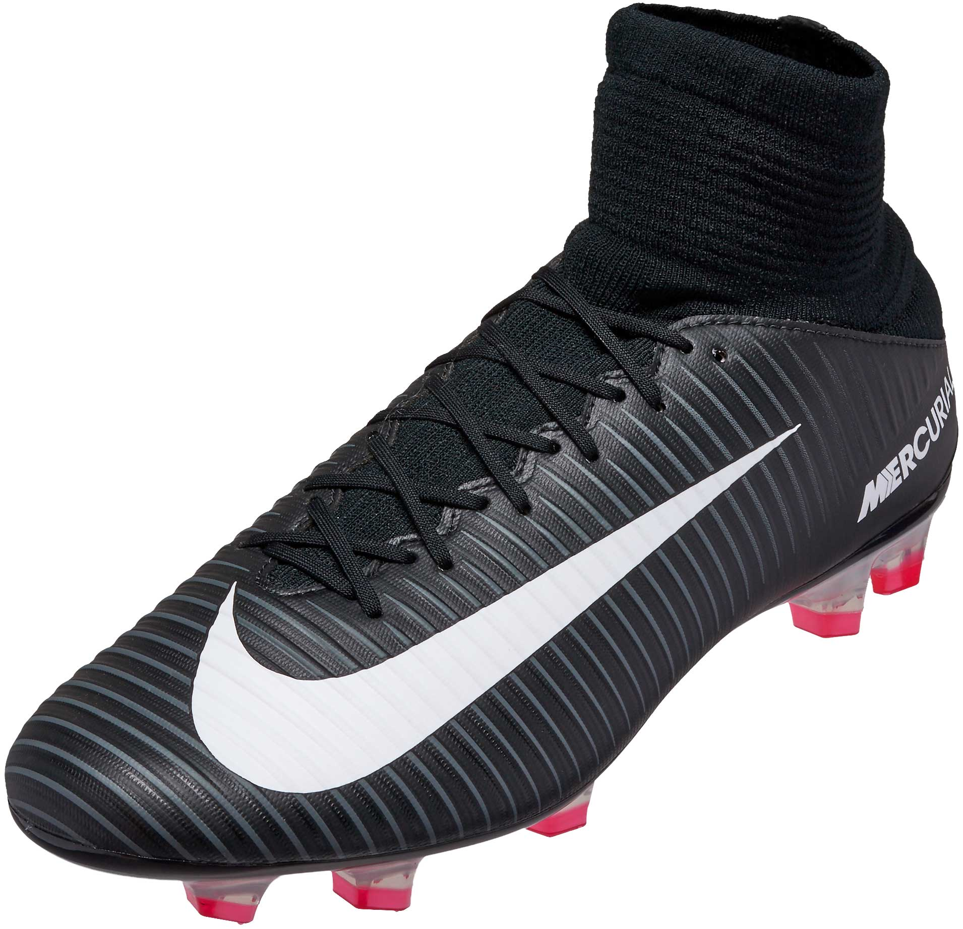 Contrapartida El aparato distrito  Nike Mercurial Veloce III DF FG Soccer Cleats Black and White- SoccerPro.com