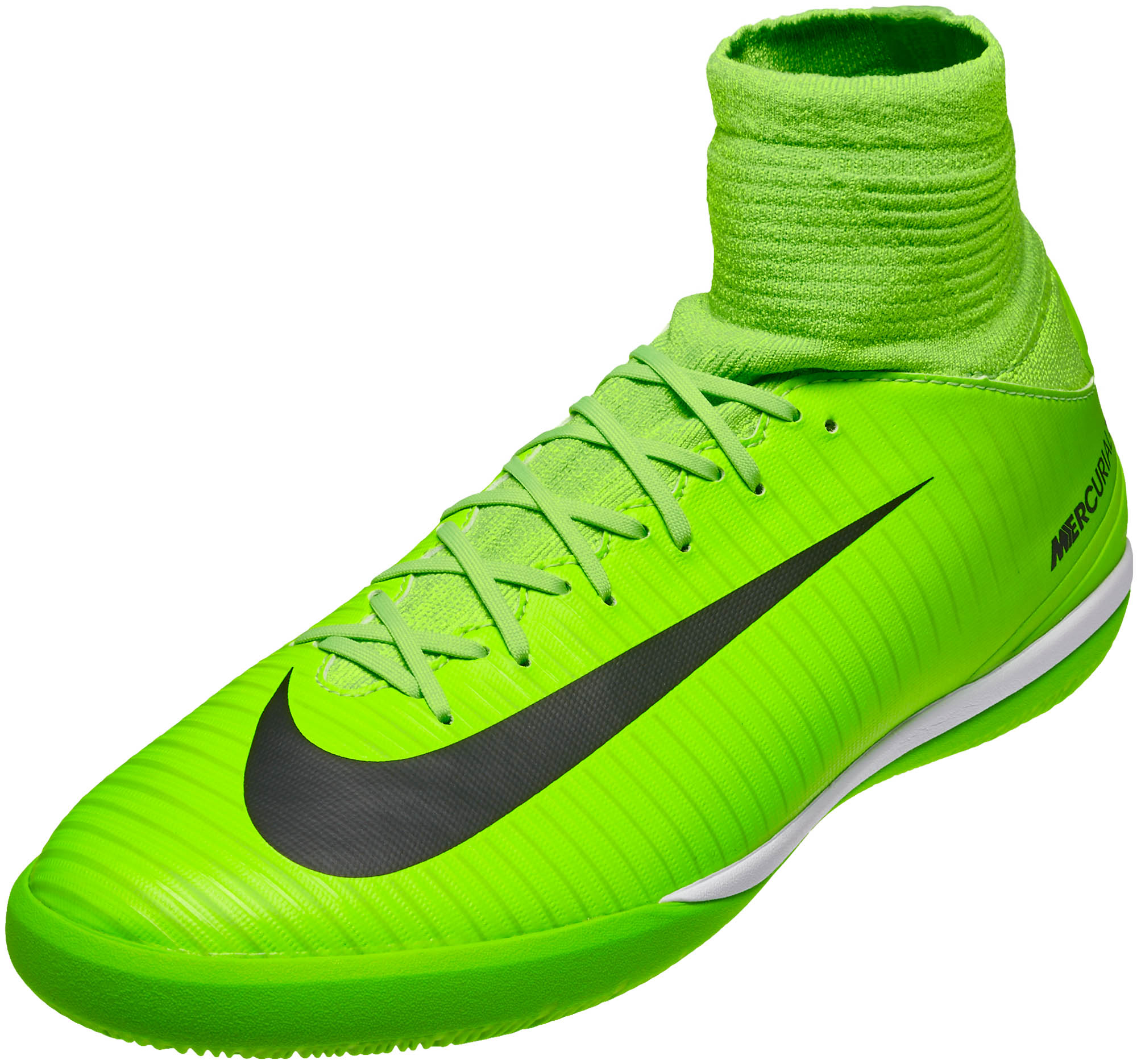 sale retailer dbc77 a0f65 Nike Kids MercurialX Proximo II IC – Electric Green Ghost Green
