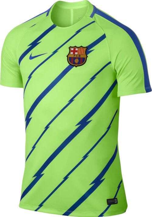 Nike Barcelona Breathe Training Top – Ghost Green/Game Royal