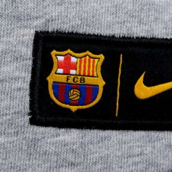 31effdaff8b36 Nike Barcelona Crest Tee – Dark Grey Heather/Game Royal. Sale!
