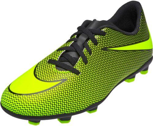 Nike Kids Bravata II FG – Black/Volt