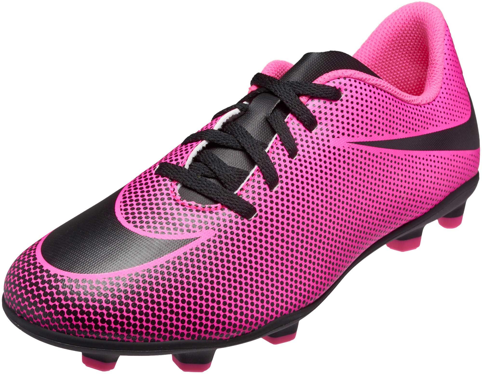 50c909eb Nike Kids Bravata II FG - Pink Bravata Soccer Shoes