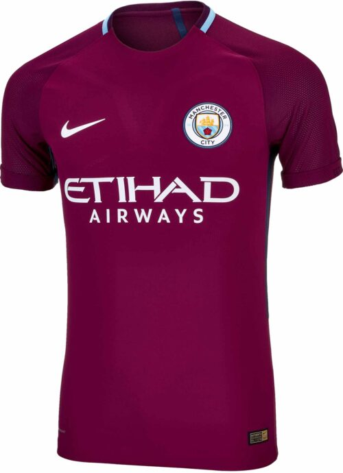 Nike Manchester City Away Match Jersey 2017-18 NS