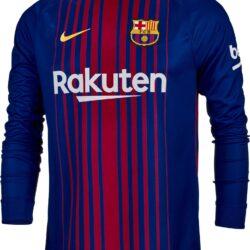 6524deb28 2017 18 Nike Barcelona Home L S Jersey - SoccerPro.com