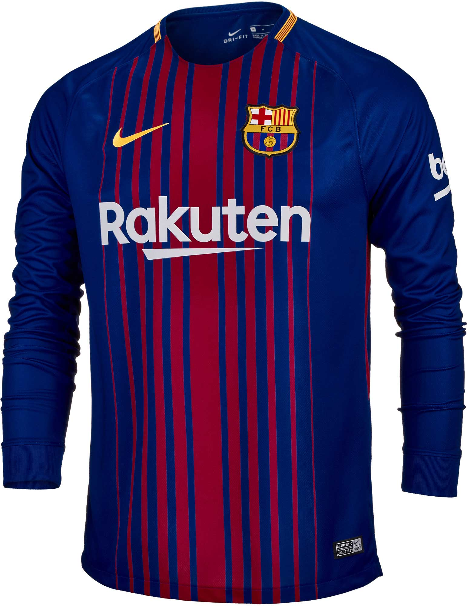newest 6549b 17585 2017/18 Nike Barcelona Home L/S Jersey - SoccerPro.com