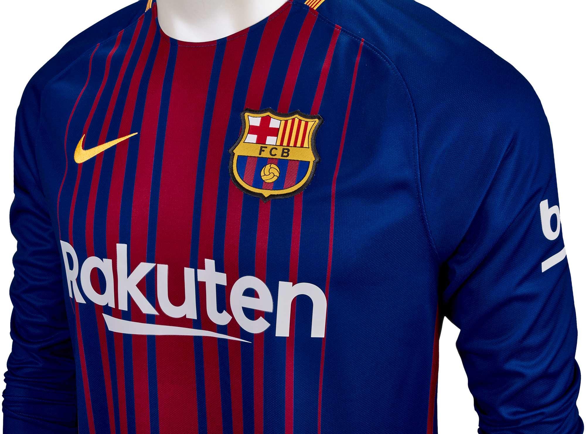 3edf43f8c16 2017 18 Nike Barcelona Home L S Jersey - SoccerPro.com